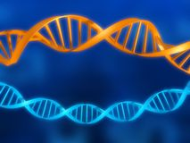 Dna model Royalty Free Stock Photography
