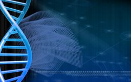 DNA model background Royalty Free Stock Images