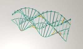 DNA model background;  on white 3d render Royalty Free Stock Photography
