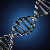 DNA model on blue background Stock Photo