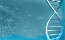 DNA model in blue background Stock Image