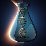 DNA model on blue background Stock Images