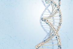 DNA model on blue gradient background Royalty Free Stock Image