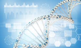 DNA model Royalty Free Stock Images