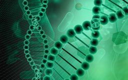 DNA model in green background Stock Images
