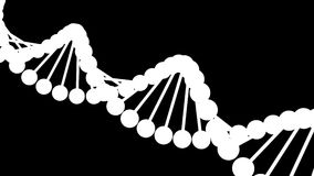 DNA model - looped animation stock footage