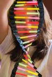 DNA model robić od plastikowych słoma Zdjęcie Royalty Free