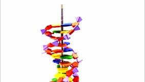 DNA-modelbouw op en neer - eindemotie stock videobeelden