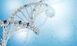 DNA-Modell auf blauem Steigungshintergrund vektor abbildung