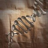 DNA-Modell gemalt auf Papier Stockbild