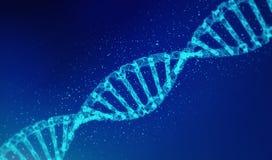 DNA, modello dell'elica nella sanità e medicina e tecnologia royalty illustrazione gratis