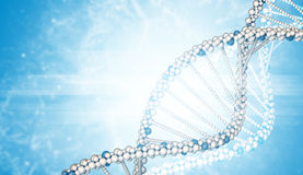 DNA models and blured smoke Royalty Free Stock Photography