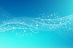 DNA moderna de la molécula de la estructura átomo Molécula y fondo de la comunicación para la medicina, ciencia, tecnología, quím libre illustration