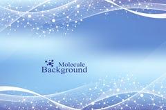 DNA moderna de la molécula de la estructura átomo Molécula y fondo de la comunicación para la medicina, ciencia, tecnología, quím ilustración del vector