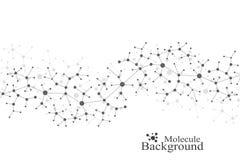 DNA moderna de la molécula de la estructura átomo Molécula y fondo de la comunicación para la medicina, ciencia, tecnología, quím Fotos de archivo