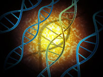 DNA Modification. 3d high quality rendering Stock Photo