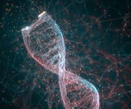 DNA Molecular Structure. 3D illustration. Colorful DNA molecule. Concept image of a structure of the genetic code stock image