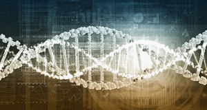 DNA molecule background Royalty Free Stock Photos