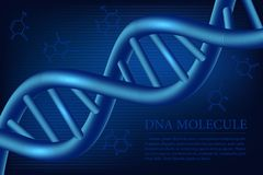 DNA molecule background. Vector illustration. Royalty Free Stock Image