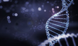DNA molecule. Biochemistry background concept with high tech dna molecule stock photo