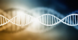 DNA molecule. Biochemistry background concept with high tech dna molecule royalty free stock image