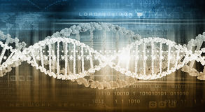 DNA molecule. Biochemistry background concept with high tech dna molecule royalty free stock photography