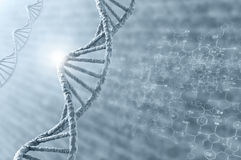 DNA molecule. Biochemistry background concept with high tech dna molecule stock images
