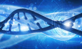 Dna molecule. Biochemistry concept with digital blue DNA molecule Royalty Free Stock Image