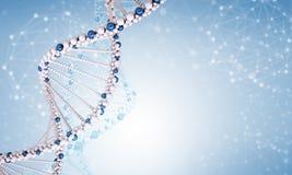 DNA molecule on blue Stock Photo