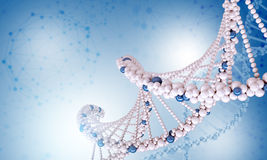 DNA molecule on blue Stock Images
