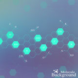 Dna molecule on blue background. Graphic background for your design . Vector Illustration Royalty Free Stock Photography