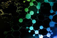 DNA, Molecule, Chemie in de test van het laboratoriumlaboratorium Stock Foto's