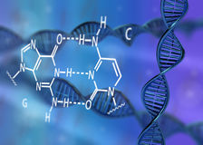 DNA-molecule 3D illustratie Stock Afbeelding