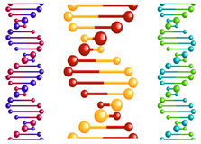 DNA molecule with elements royalty free stock photo
