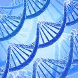 DNA molecule. Genetics background. 3D render vector illustration