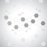 Dna molecule on gray background Royalty Free Stock Photo