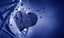 DNA molecule and heart Stock Images