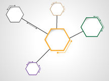DNA molecule Hexagon web design Royalty Free Stock Photo