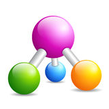 Dna molecule icon Royalty Free Stock Image