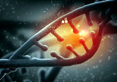 DNA molecule. Is located in front of a colored background. abstract collage stock photo