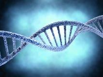 DNA-molecule over abstracte achtergrond Royalty-vrije Stock Foto's