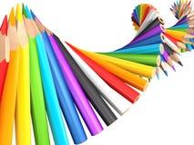 Dna molecule of pencils Royalty Free Stock Image
