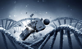 DNA molecule research Royalty Free Stock Image