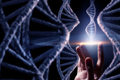 DNA molecule research Royalty Free Stock Photography