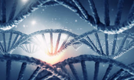 DNA molecule research . Mixed media Stock Photography