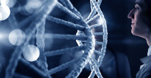 DNA molecule research Stock Image
