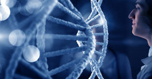 DNA molecule research Royalty Free Stock Images