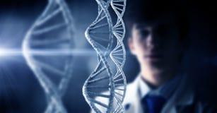 DNA molecule research Stock Photos