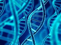 DNA molecule spiral stock illustration