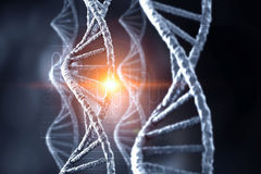 DNA molecule spiral. Mixed media Royalty Free Stock Image